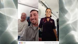 Weihnachten Vater Tochter Stewardess