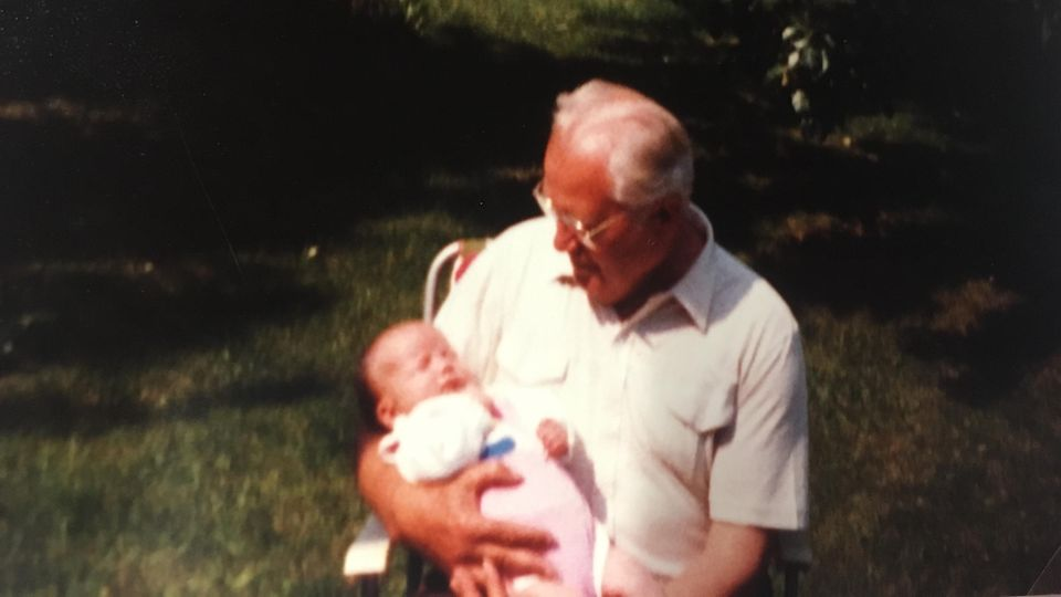 Mein Opa und ich in den 80er Jahren