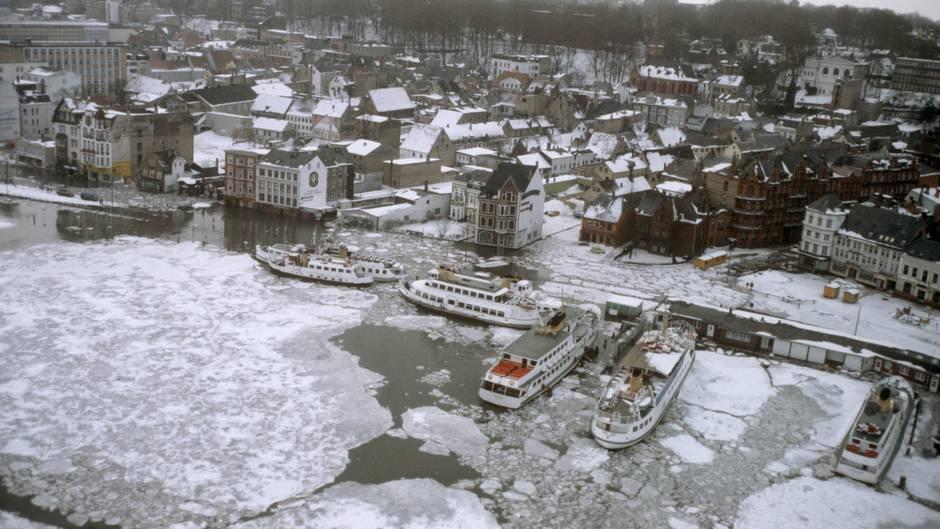Vor 40 Jahren: Schneekatastrophe in Schleswig-Holstein