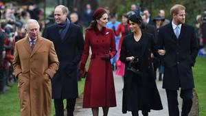 Die Royals feiern Weihnachten