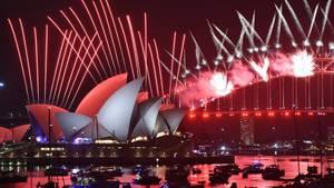 Das Neujahrs-Feuerwerk in Sydney