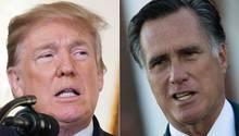 Donald Trump und Mitt Romney