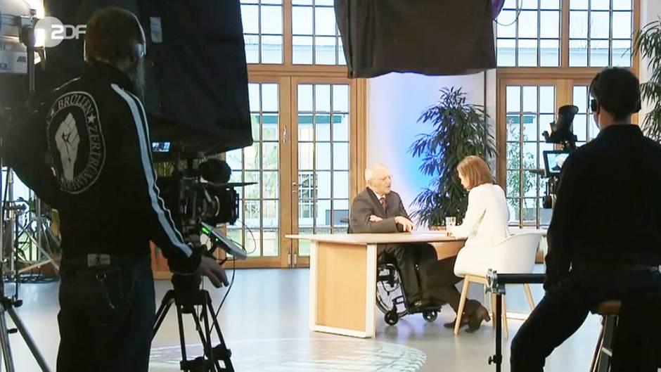 Wolfgang Schäuble beim ZDF-Interview