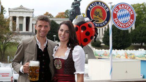 Lisa und Thomas Müller auf dem Oktoberfest 2018