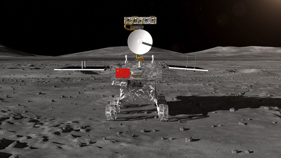 "China: Computerrendering der Mondsonde ""Chang'e 4"""