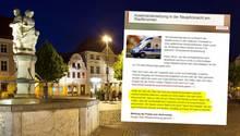 Stadtbrunnen in Cottbus, Pressemitteilung der Stadtverwaltung