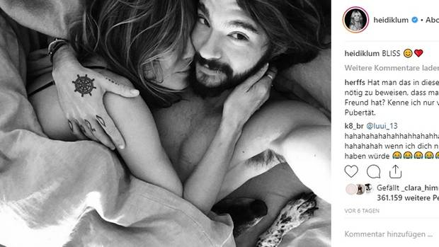 Heidi Klum und Tom Kaulitz kuscheln gemeinsam im Bett