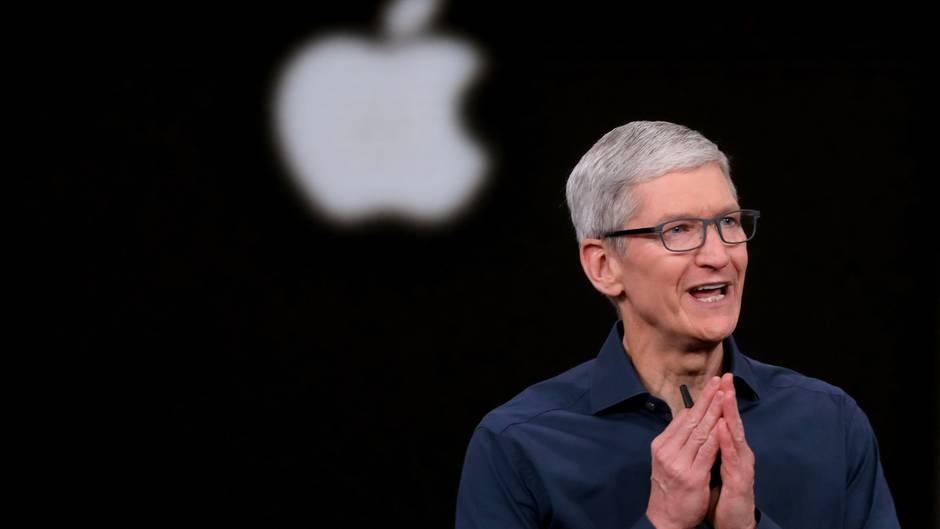 Apple-Chef Tim Cook musste einen Umsatzrückgang im letzten Quartal ankündigen