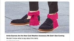 Kleine Schals an den nackten Knöcheln – das soll ein Trend sein?!