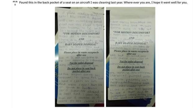 Liebesbrief von einer Frau, der auf Reddit veröffentlicht wurde