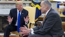 Donald Trump und Chuck Schumer