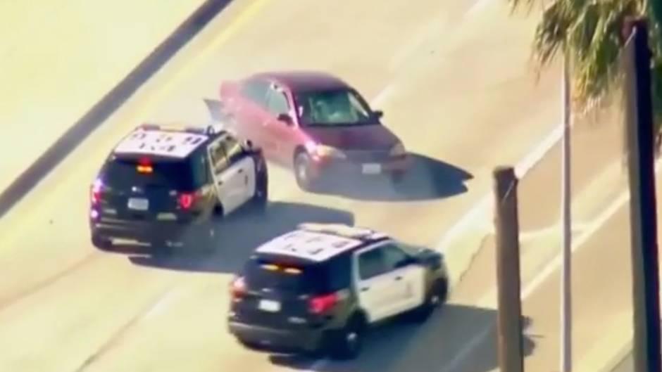 Wie im Film : Nach Fahrerflucht: Mann liefert sich stundenlange Verfolgungsjagd mit der Polizei
