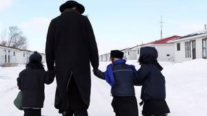 Mitglieder der ultra-orthodoxen Sekte Lev Tahor