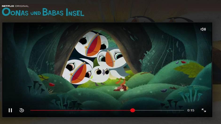Oonas und Babas Insel (Vorschulalter)   Die Handlung: Oona und ihr Bruder Baba sind zwei Papageientaucher, die auf einer Insel leben. Hier lernen sie viel über Freundschaft, die Natur und das Leben.  Was die Serie für Erwachsene spannend macht: Oonas und Babas Insel ist wirklich süß gezeichnet. Da macht es Spaß zuzuschauen. Die Lektionen, die die Geschwister lernen, sind zwar einfach, aber transportieren dennoch das Wesentliche. Und das ist im Vergleich zu vielen anderen Kinderserien echt selten.  Wo gibt's die Serie: Bei Netflix