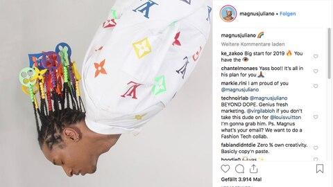 Magnus bewirbt sich beim Modekonzern mit einer – Frisur