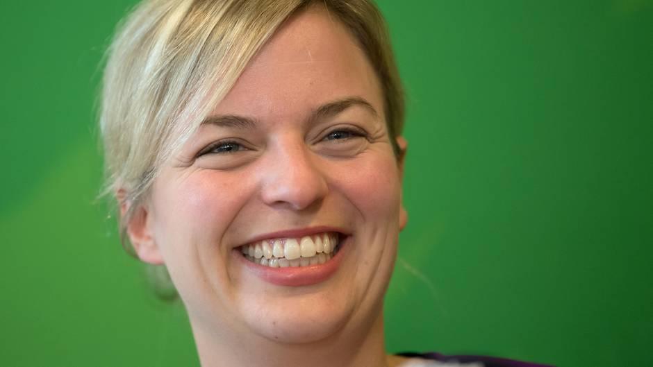 Die Spitzenkandidatin von Bündnis 90/Die Grünen, Katharina Schulze