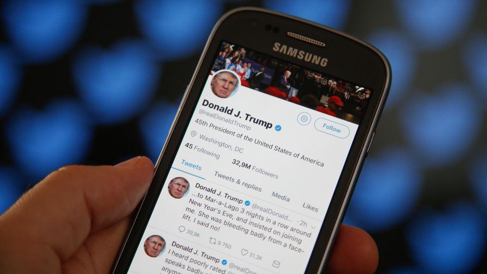 Twitterapp auf Smartphone