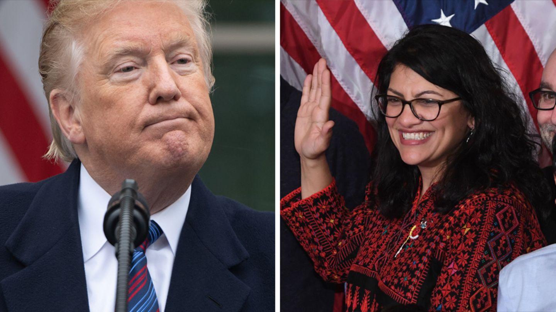 Die neue US-Abgeordnete Rashida Tlaib (rechts) will Trump des Amtes entheben