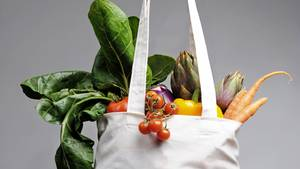 Verwenden Sie beim Einkauf keine Plastiktüten. Achten Sie darauf, dass Sie immer einen Stoffbeutel dabei haben. Und packen Sie Obst und Gemüse nicht in Plastiktüten, sondern lieberlose in den Beutel.