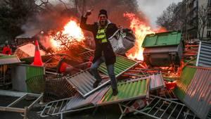 """Mit deutlich weniger Teilnehmernist die """"Gelbwesten""""-Protestbewegung in Frankreichins neue Jahr gestartet"""