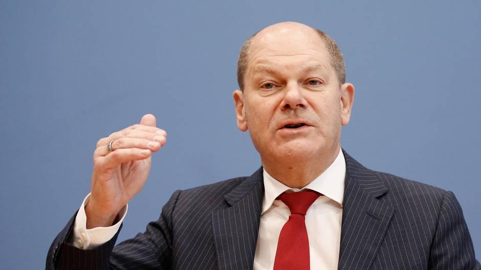 Vizekanzler, Finanzminister und stellvertretender SPD-Vorsitzender Olaf Scholz