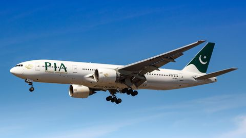 Eine Boeing 777 von Pakistan International Airlines