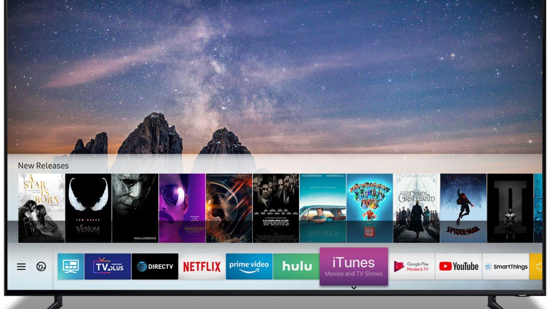 iTunes auf einem Samsung-Fernseher - das hätte man sich früher nicht träumen lassen.
