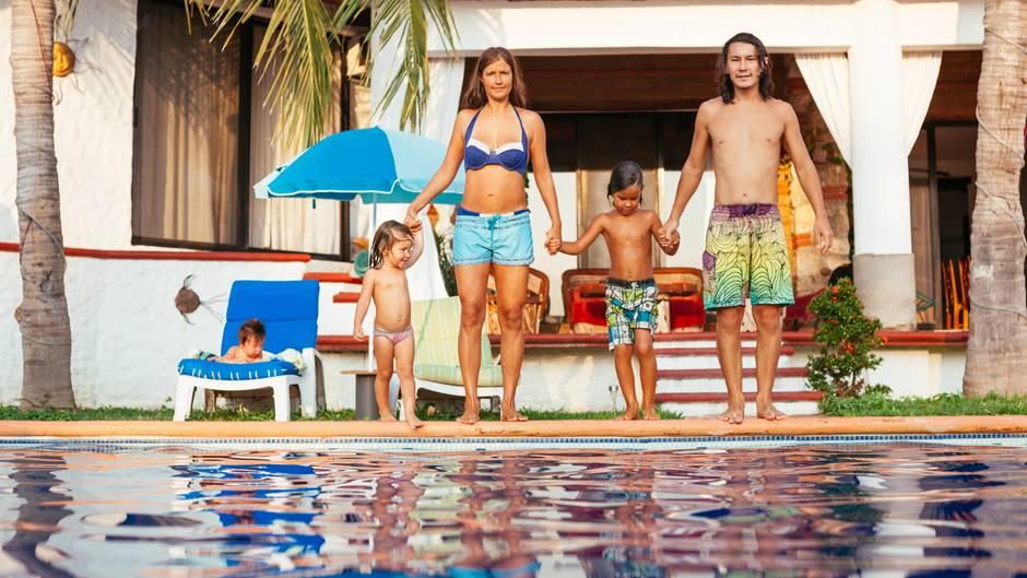 Finca mit Swimmingpool: Für Familien sind Ferienhäuser besonders gut geeignet