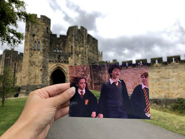 """An einem Drehort des Films """"Harry Potter"""": dasAlnwick Castle in Großbritannien"""