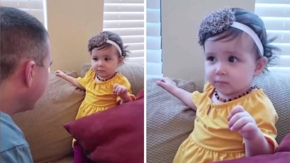 Verwirrtes Kleinkind: Vater rasiert sich seinen Bart, Tochter erkennt ihn nicht wieder – die Reaktion ist göttlich