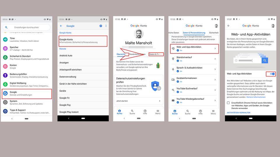 Sicherheit: Android-Smartphones: So löschen Sie Ihre Datensammlung bei Google