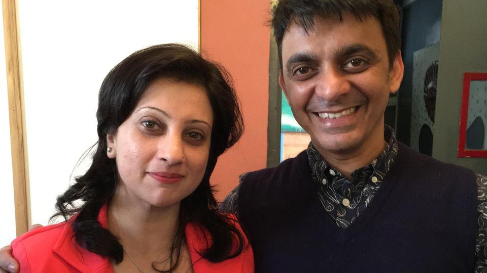 Kuku Arora mit seiner Frau Priti