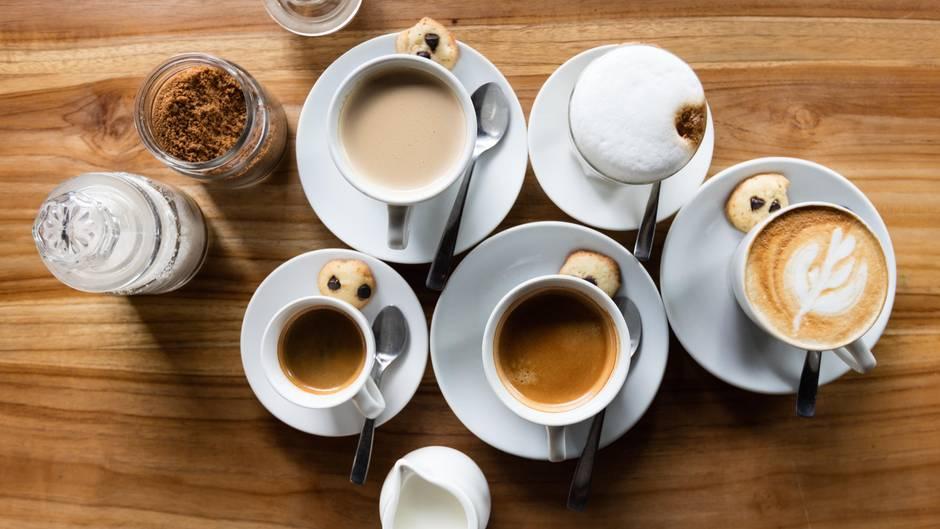 Verschiedene Kaffeesorten