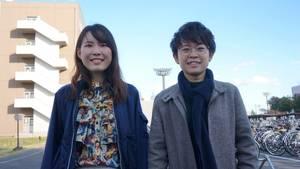 Die japanischen Studentinnen Mayu Otaki und Misato Kawasaki