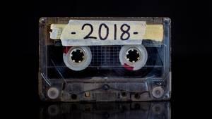 Kassette mit 2018 Sticker