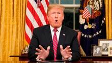 US-Präsident Donald Trump bei seiner TV-Ansprachean die Nation