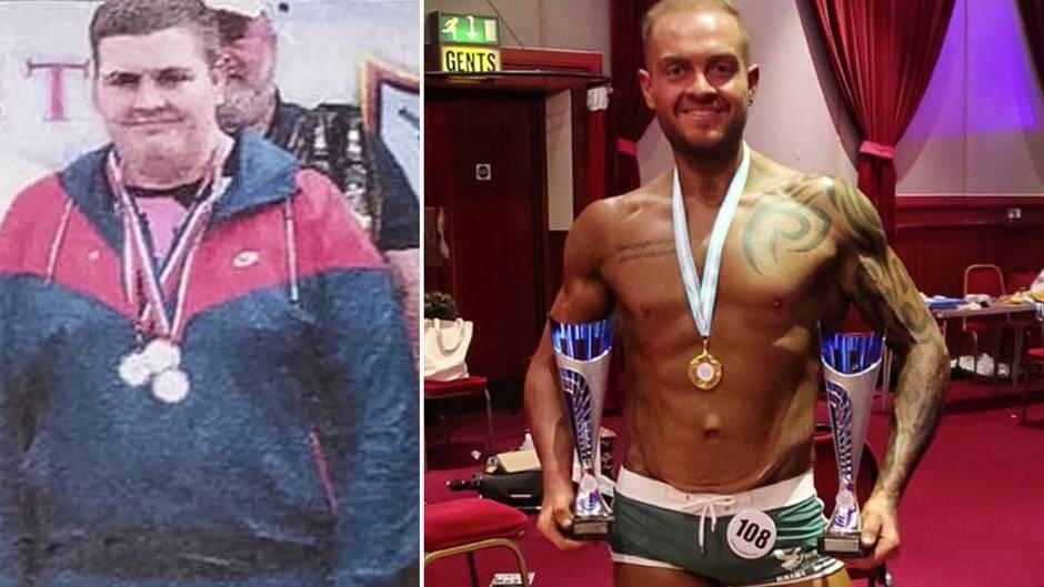 England: Dieser Mann wog 127kg und ist nun erfolgreicher Bodybuilder