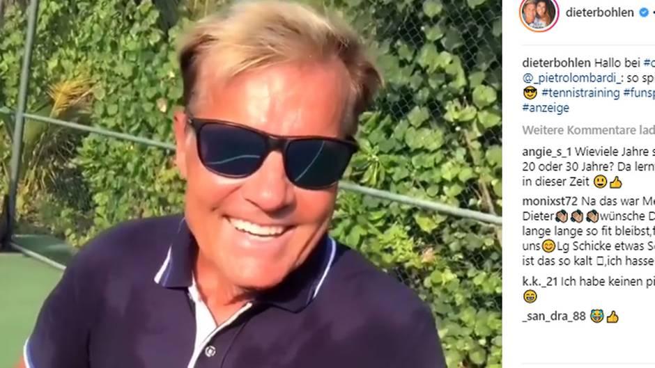 Dieter Bohlen beim Tennis