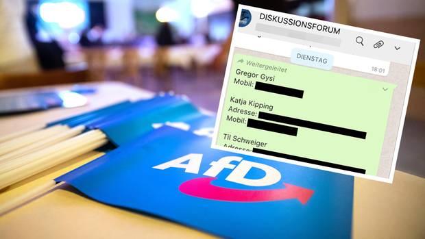 In der AfD-internen Gruppe wurden private Daten aus dem Hack geteilt