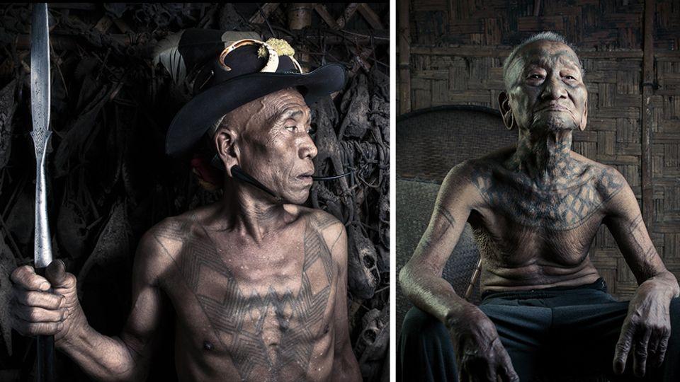 Die Konyak: Die letzten Kopfjäger und ihre Tattoos, die von ihrer wilden Vergangenheit erzählen