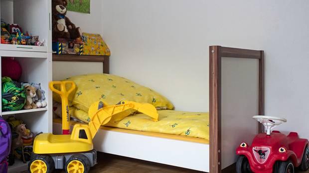 Das verwaiste Bett von Gökhan daheim in München