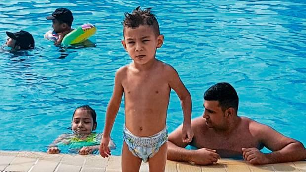 Gökhan im Türkei-Urlaub, wenige Stunden bevor das Kind von einer Sekunde auf die nächste zu krampfen begann