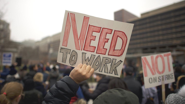 """Protestaktion gegen den """"Shutdown"""" von Behördenmitarbeitern inPhiladelphia, im US-BundesstaatPennsylvania"""