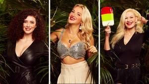 Drei Kandidatinnen des Dschungelcamp 2019 in einer Kombo. Alle drei zeigen gerne viel Haut