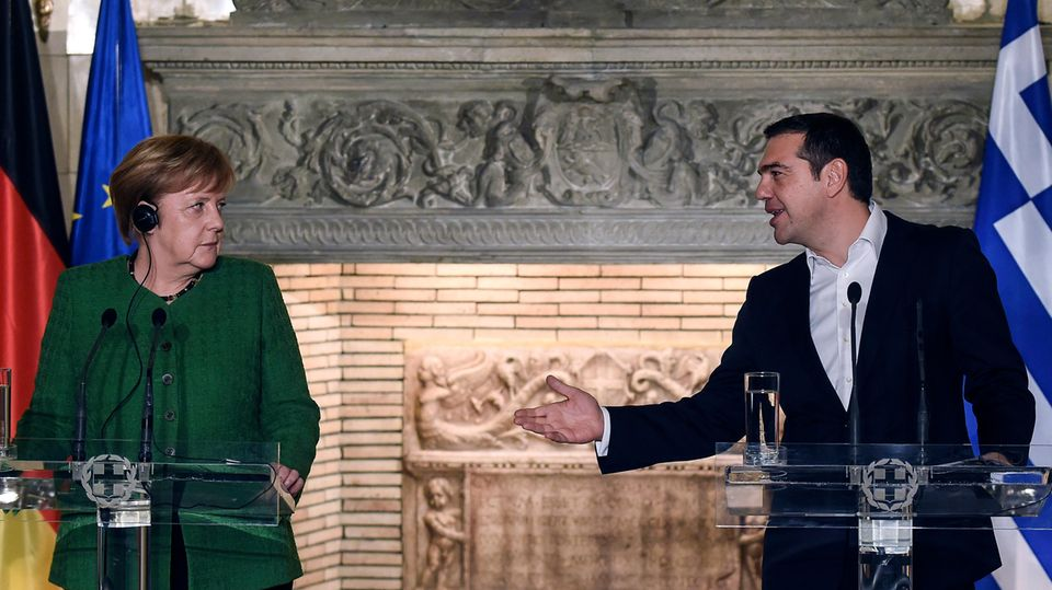 Angela Merkel und Alexis Tsipras: ein ungleiches Paar