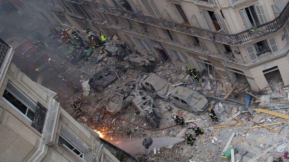 Eine Luftaufnahme zeigt das ganze Ausmaß der Zerstörung
