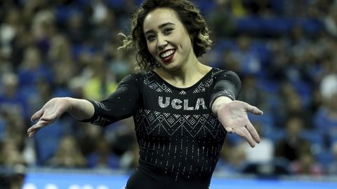 Die Turnerin Katelyn Ohashi