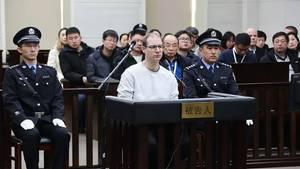 Der Kanadier Robert Lloyd Schellenberg vor Gericht im Nordosten Chinas