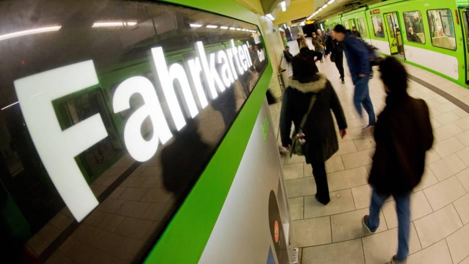 Eine Stadtbahn-Haltestelle inHannover