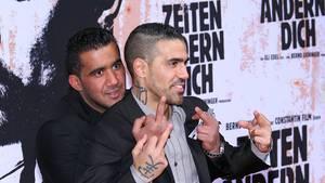 Bushido (r.) 2010 mit seinem damaligen Geschäftspartner Arafat Abou-Chaker